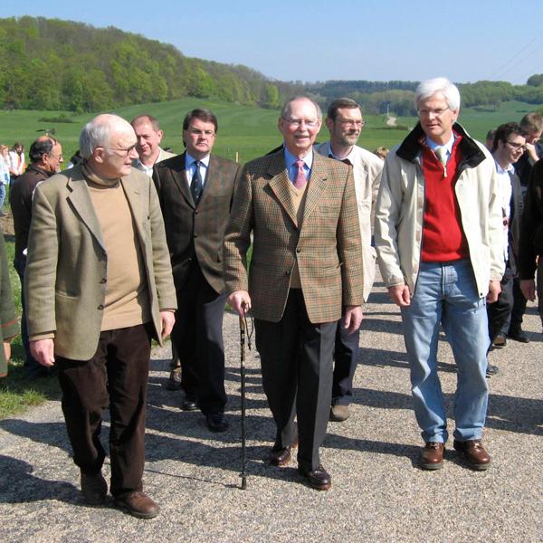 Spaziergang mit S.K.H. Großherzog Jean.